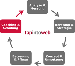 Grafik zu Kompetenz Coaching und Schulung